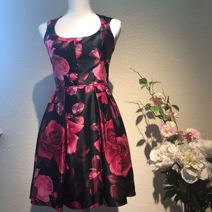 Betsy & Adam pink floral dress